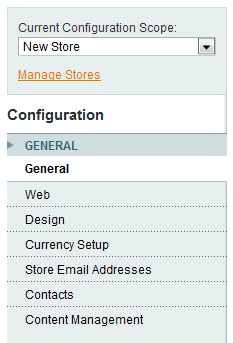 Configure new magento store settings