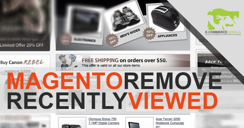 Magento remove recently viewed products